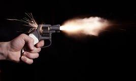 Pistoleschuß Stockbild