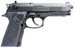 Pistolet au-dessus de blanc Photographie stock