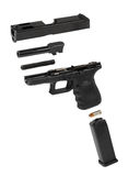Pistolet automatique éclaté Images libres de droits