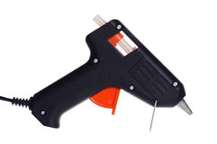 Pistolet chaud de colle d'isolement sur le blanc images stock