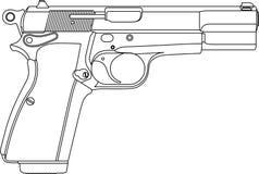 Pistolet d'arme à feu de Wireframe Photos libres de droits
