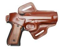 Pistolet dans un étui Image libre de droits