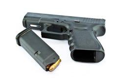 pistolet de 9 millimètres automatique Images libres de droits