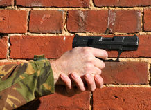 pistolet de 9mm photographie stock
