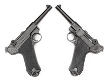 Pistolet de noir de Parabellum Photos stock