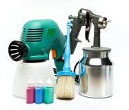Pistolet de pulvérisation électrique et mécanique, manuel pour la pulvérisation de couleur Photographie stock