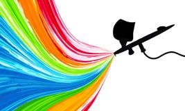 Pistolet de pulvérisation avec la peinture Image libre de droits