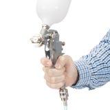 Pistolet de pulvérisation industriel de taille utilisé pour la peinture et le revêtement industriels - rapport 1 à 1 images libres de droits