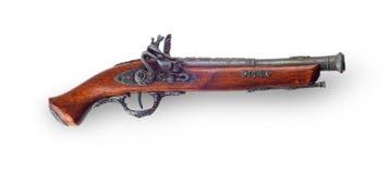 Pistolet de vintage sur le fond blanc Photographie stock
