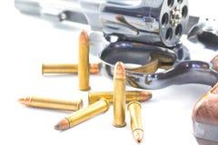 Pistolet i pociski Obraz Royalty Free