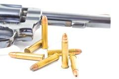 Pistolet i pociski Fotografia Royalty Free