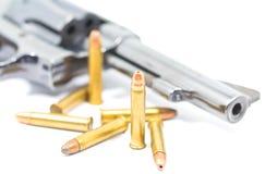 Pistolet i pociski Zdjęcie Stock