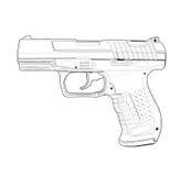 Pistolet - illustration de vecteur photos libres de droits