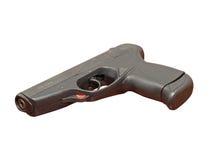 Pistolet noir. D'isolement. photos libres de droits