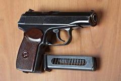 Pistolet P.M. (Makarov) du Russe 9mm Image libre de droits