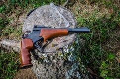 Pistolet, 22 pojedynczy strzał dla tropić lub cel strzelanina, Zdjęcie Stock
