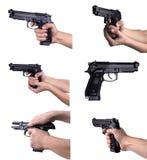 pistolet ręki Zdjęcia Royalty Free