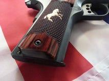 Pistolet royal national de match du poulain 1911 Photo stock