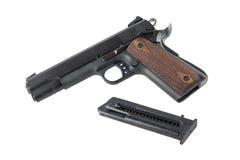 Pistolet semi-automatique avec la magazine enlevée Image stock