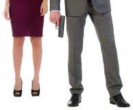 Pistolet i cieki zdjęcia stock