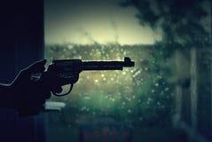 Pistolet w ręce Obrazy Royalty Free