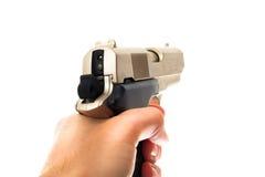 Pistolet w ręce Obraz Stock
