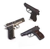 Pistolets blancs d'armes de fond image libre de droits