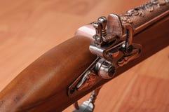 Pistolets de vintage sur le fond en bois Images stock