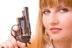 pistoletu odosobneni kobiety potomstwa Fotografia Stock