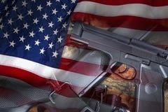 Pistolety - bronie - Stany Zjednoczone Obraz Royalty Free