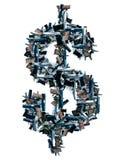 Pistolety i dolarowy znak Zdjęcia Stock
