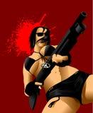 Pistolety i krew Obrazy Stock