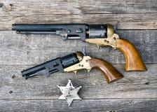 Pistolety które wygrywali zachód Obraz Stock
