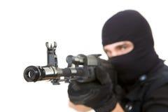 pistolhot Fotografering för Bildbyråer