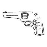 Pistolkontur för borgerligt försvar, militär utrustning royaltyfri illustrationer
