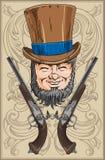 Pistols and gentleman Stock Images