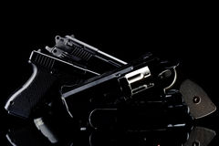 Pistols and guns Royalty Free Stock Photos