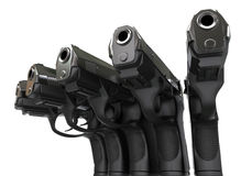 Pistols in semi circle Royalty Free Stock Photo