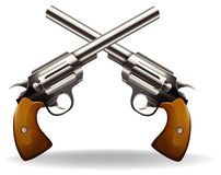 Pistols. Two pistol guns in classic design Royalty Free Stock Image
