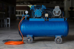 Piston Air compressor used in the factory Royalty Free Stock Photo