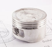 The piston aluminum Stock Photo