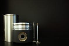 Piston avec des accessoires Photographie stock libre de droits