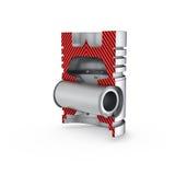 Piston d'isolement sur le backgound blanc Image stock