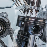 Piston engine in cross section. Close-up Royalty Free Stock Image