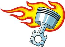 Piston in fire Royalty Free Stock Photo