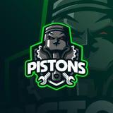 Piston mascot logo design vector with modern illustration concept style for badge, emblem and tshirt printing. piston illustration royalty free illustration