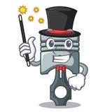 Piston miniature de magicien dans la forme de bande dessinée illustration stock
