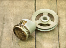 Piston, pulley Stock Photography