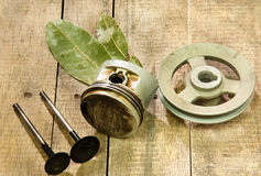 Piston, pulley Royalty Free Stock Images