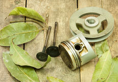 Piston, pulley Royalty Free Stock Photography